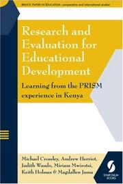 Cover of: Research and Evaluation for Educational Development