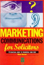 Cover of: Marketing Communications For Solicitors