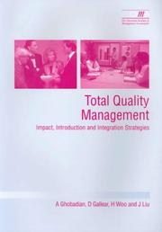 Cover of: Total Quality Management