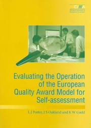 Cover of: Evaluating the Operation of the European Quality Award Model for Self Assessment