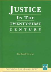 Cover of: Justice In The 21st Century