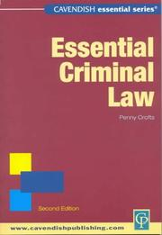 Cover of: Essential Criminal Law (Essential)