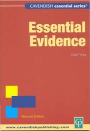 Cover of: Essential Evidence (Essential)