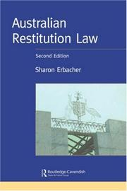 Cover of: Australian Restitution Law, 2nd Edition