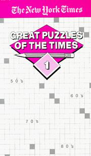 Cover of: Great Puzzles of The Times #1