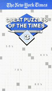 Cover of: Great Puzzles of The Times #3