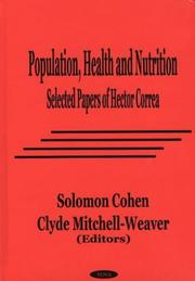 Cover of: Population, Health and Nutrition