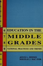 Cover of: Education in the Middle Grades