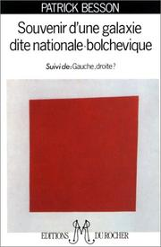 Cover of: Souvenir d'une galaxie dite nationale bolchévique