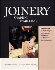 Cover of: Joinery Shaping and Milling