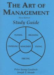 Cover of: The Art of Management