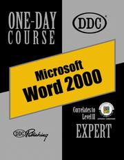 Cover of: Word 2000 Expert One Day Course