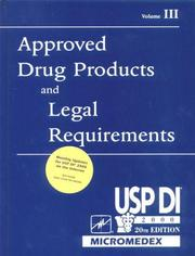 Cover of: Approved Drug Products and Legal Requirements, Volume III