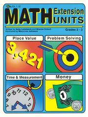 Cover of: Math Extension Units grades 2-3