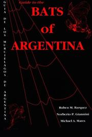 Cover of: Guide to the Bats of Argentina