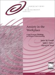 Cover of: Anxiety in the Workplace