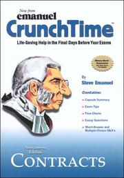 Cover of: Contracts (CrunchTime)