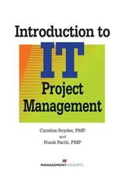 Cover of: Introduction to IT  Project Management