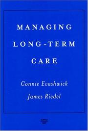 Cover of: Managing Long-Term Care