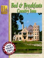 Cover of: Bed & Breakfasts and Country Inns (Bed and Breakfasts and Country Inns, ed 11)