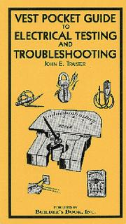 Cover of: Vest Pocket Guide For Electrical Testing and Troubleshooting