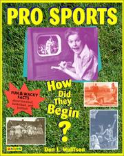 Cover of: Pro Sports: How Did They Begin