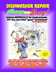 Cover of: Cheap and Easy! Dishwasher Repair (Cheap and Easy! Appliance Repair Series (Cheap and Easy)