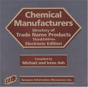 Cover of: Chemical Manufacturers Electronic Directory of Trade Name Products