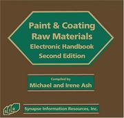 Cover of: Paint & Coating Raw Materials Electronic Handbook, Second Edition
