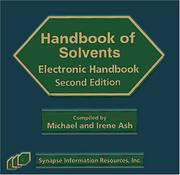 Cover of: Solvents Electronic Handbook, Second Edition
