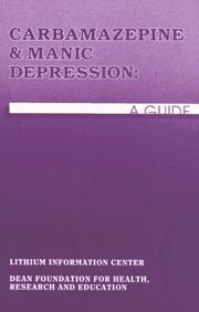 Cover of: Carbamazepine & Manic Depression