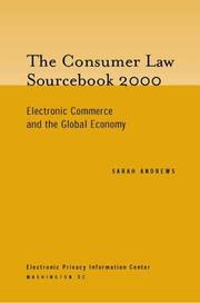 Cover of: The Consumer Law Sourcebook 2000