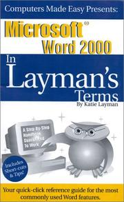 Cover of: Microsoft Word 2000 In Layman's Terms