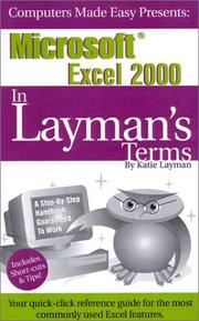 Cover of: Microsoft Excel 2000 In Layman's Terms