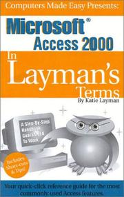 Cover of: Microsoft Access 2000 In Layman's Terms