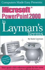 Cover of: Microsoft PowerPoint 2000 In Layman's Terms