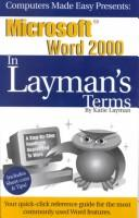 Cover of: Microsoft Office Essentials in Layman's Terms 2000