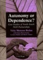 Cover of: Autonomy or Dependence?