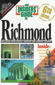 Cover of: The Insiders' Guide to Richmond--6th Edition
