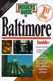 Cover of: The Insiders' Guide to Baltimore