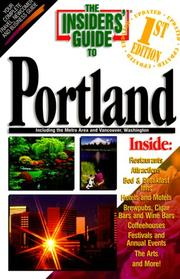 Cover of: Insiders' Guide to Portland, OR