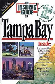 Cover of: The Insiders' Guide to Tampa Bay--3rd Edition