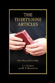 Cover of: The Thirty-nine Articles