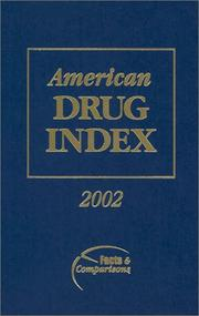 Cover of: American Drug Index, 2002