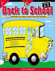 Cover of: Back to School Grades K-3