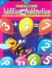 Cover of: Addition & Subtraction Facts to 20