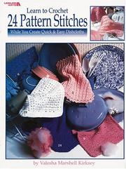 Cover of: Learn to Crochet 24 Pattern Stitches (Leisure Arts #2887)