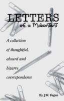Cover of: Letters of a Malcontent a Collection Of