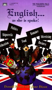 Cover of: English As She Is Spoke