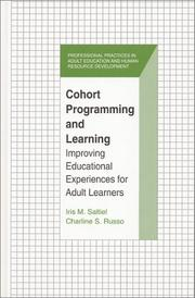 Cover of: Cohort Programming and Learning